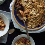 Gingered Cranberry Pear Crisp with Almonds