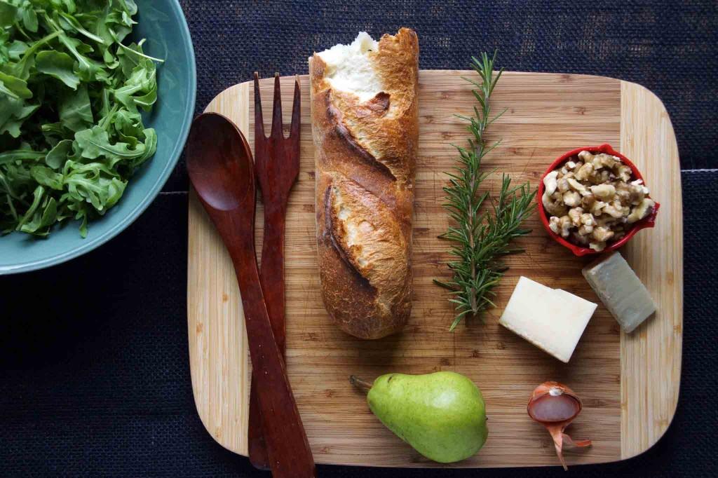 Pear & Arugula Salad Ingredients