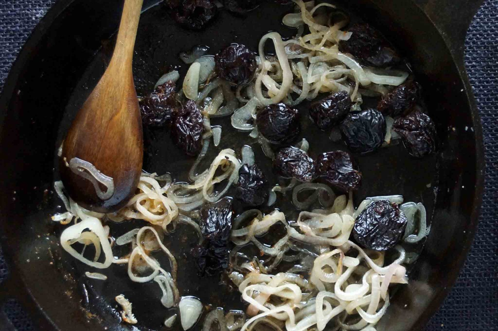 Sauteed Shallots and Prunes with Brandy