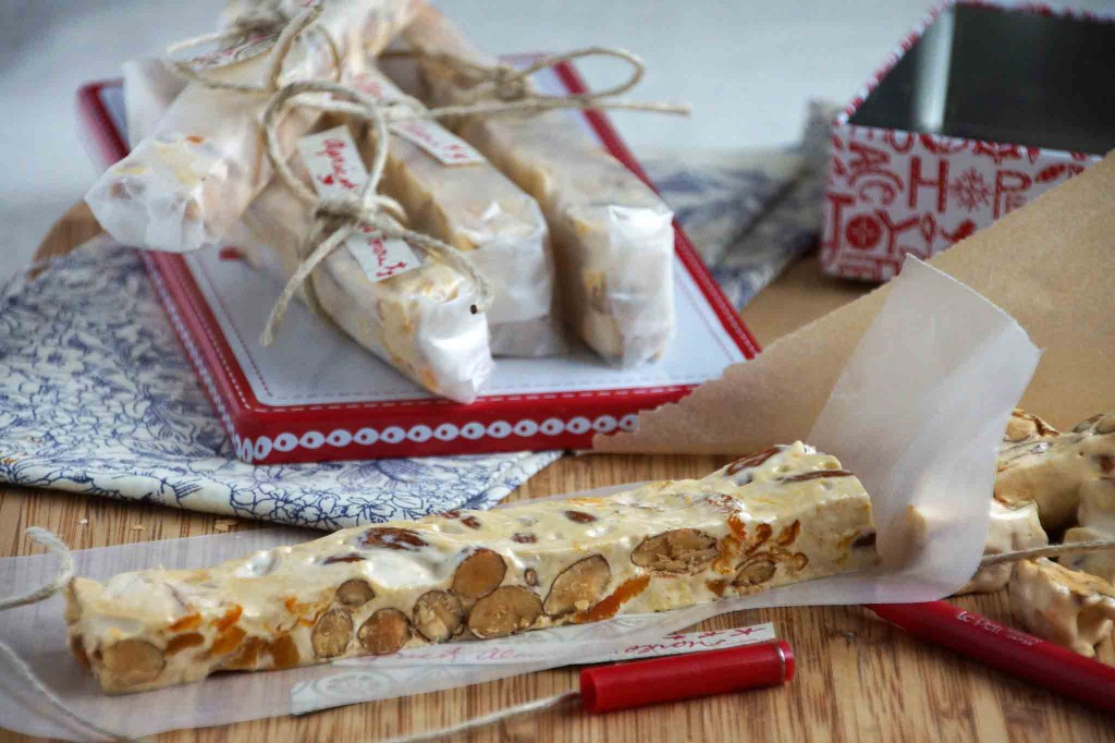 Almond Torrone with Apricots