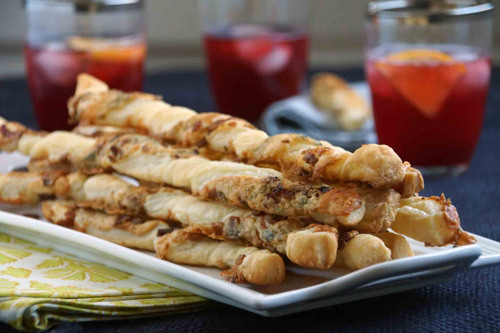 Blue Cheese and Bacon Cheese Straws