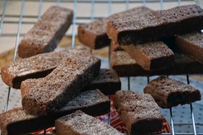 Chocolate-Spice Shortbread Cookies