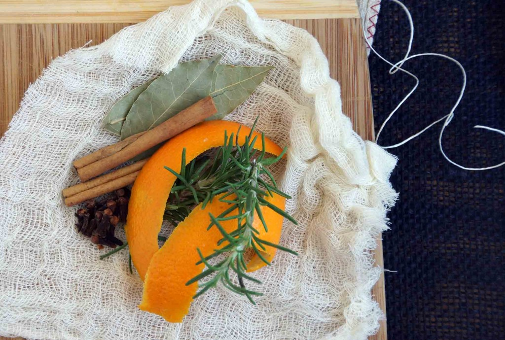 Orange Peel, Cinnamon, and Clove Bouquet Garni