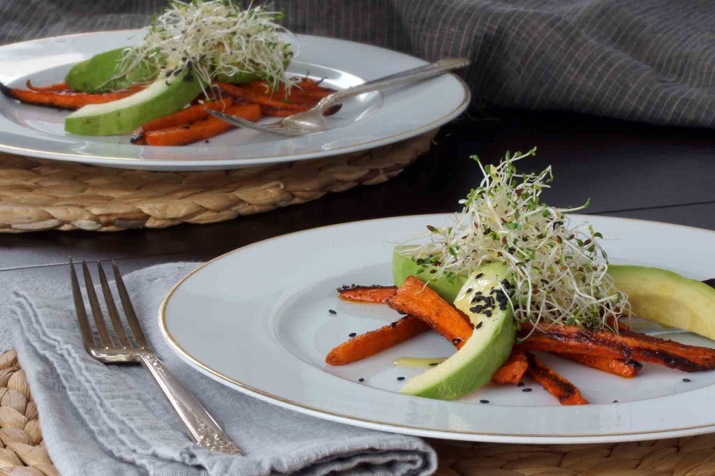 Carrot & Avocado Salad with Toasted Sesame Seeds | strawberryplum