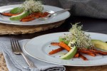 Roasted Carrot and Avocado Salad