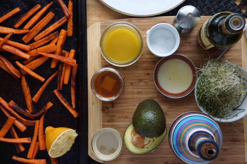 Roasted Carrots and Lemon Vinaigrette