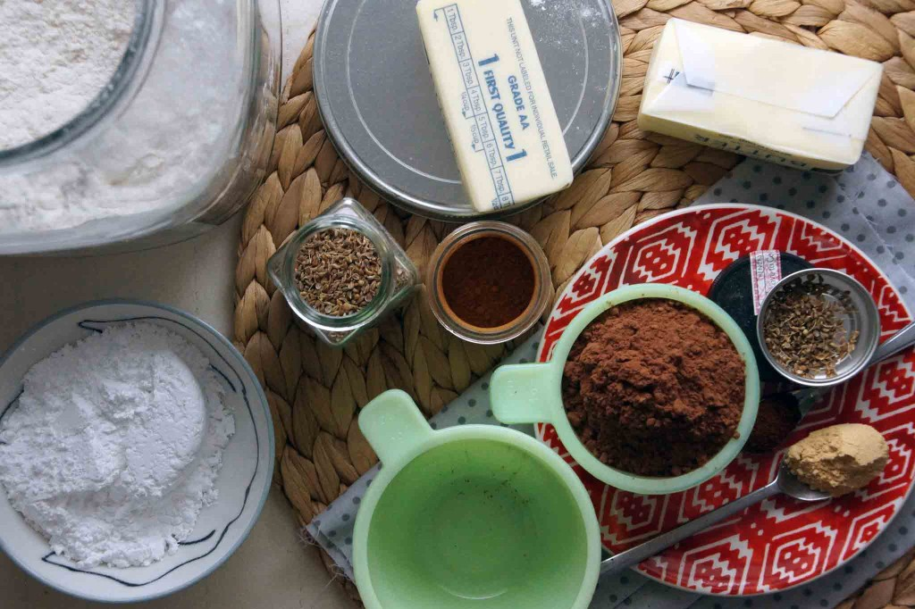 Spiced Chocolate Shortbread Ingredients