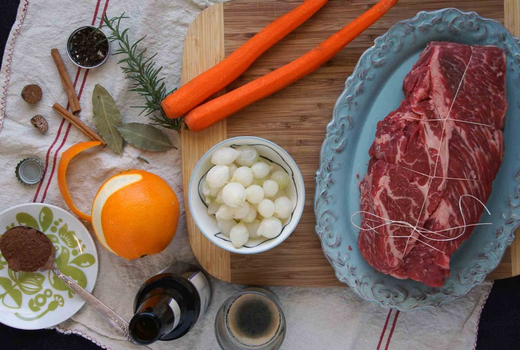 Stout Braised Beef Ingredients