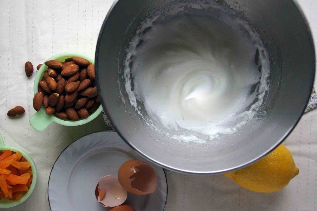 Whipped Egg Whites for Torrone