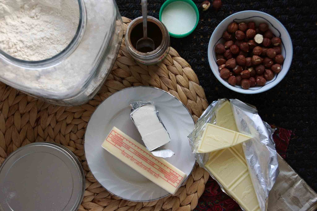 White Chocolate & Espresso Cookie Ingredients