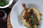 Braised Lamb Shanks with Citrus & Mint Gremolata