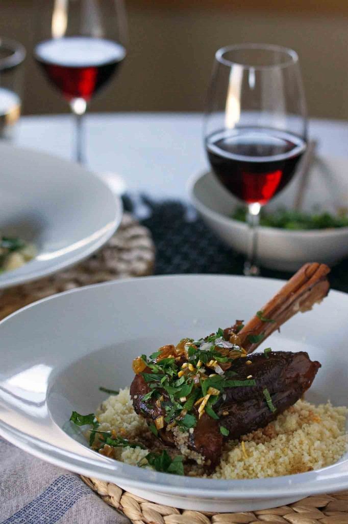 Braised Lamb Shanks with Citrus-Mint Gremolata | strawberryplum
