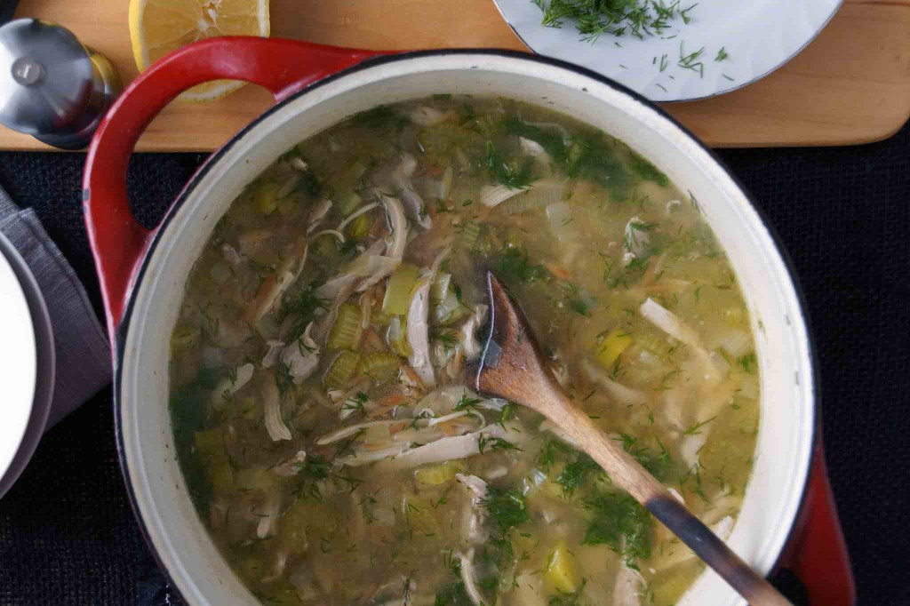 Chicken & Orzo Soup with Lemon & Dill
