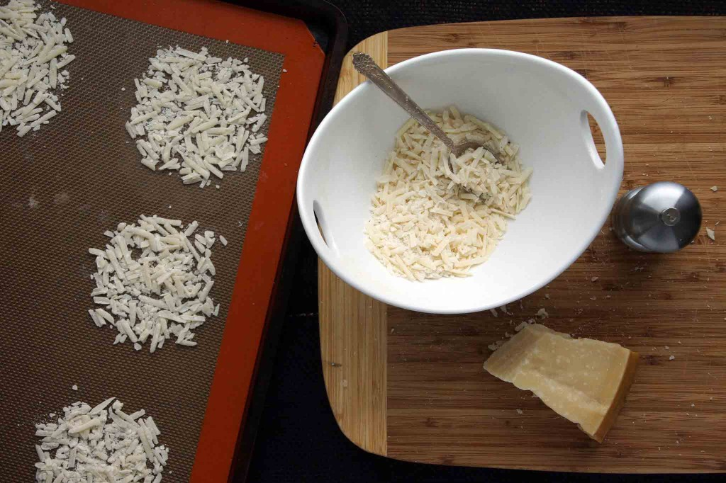 Forming Parmesan Frico