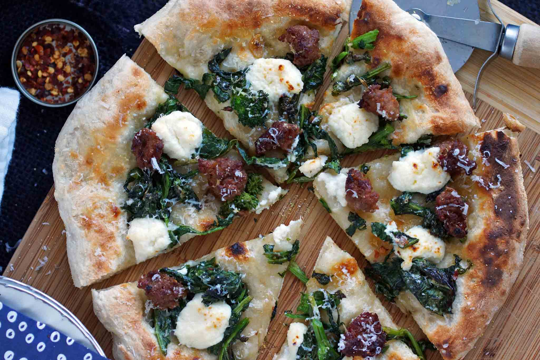 Spicy Sausage, Broccoli and Ricotta Pizza Recipe