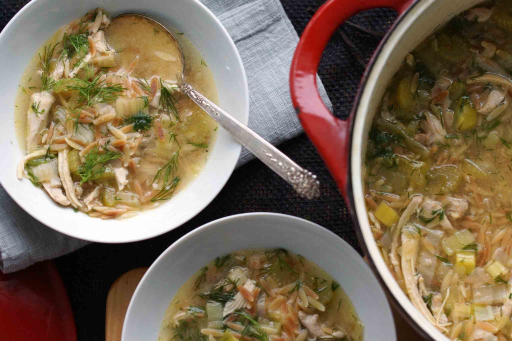Lemon & Dill Chicken-Orzo Soup