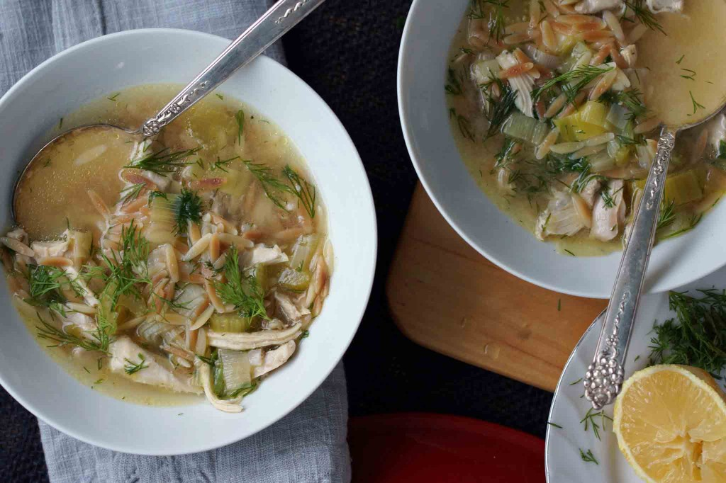 Lemony Chicken & Orzo Soup with Fresh Dill