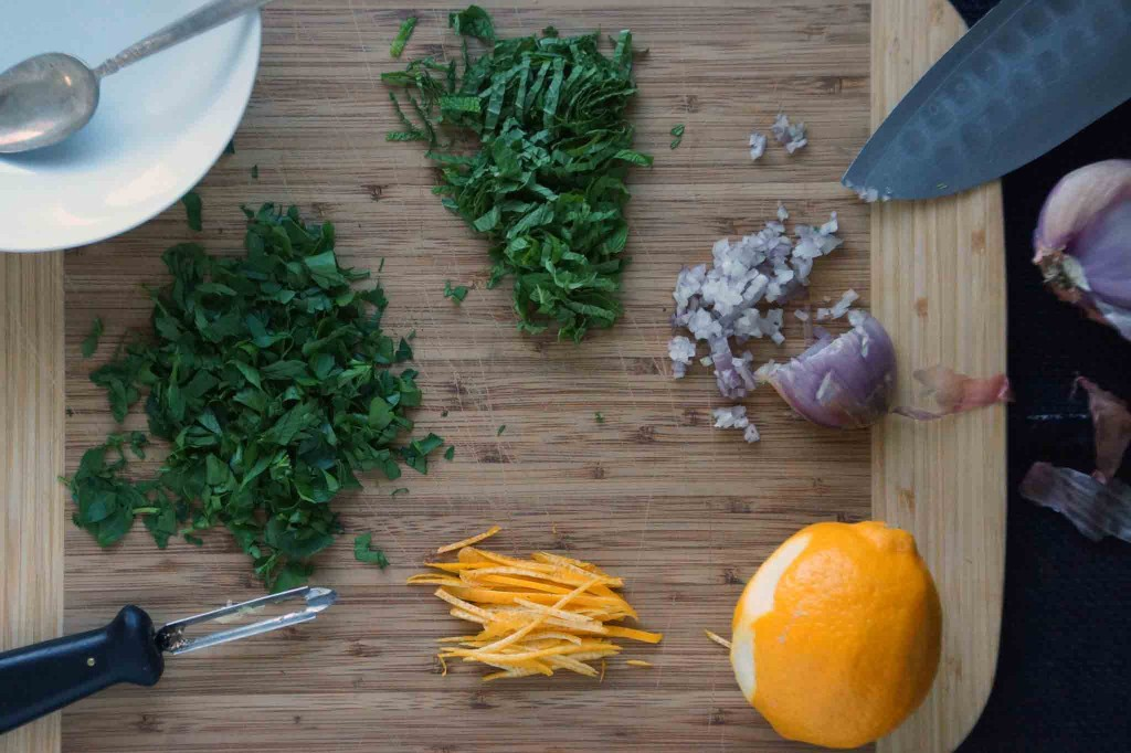 Meyer Lemon & Mint Gremolata