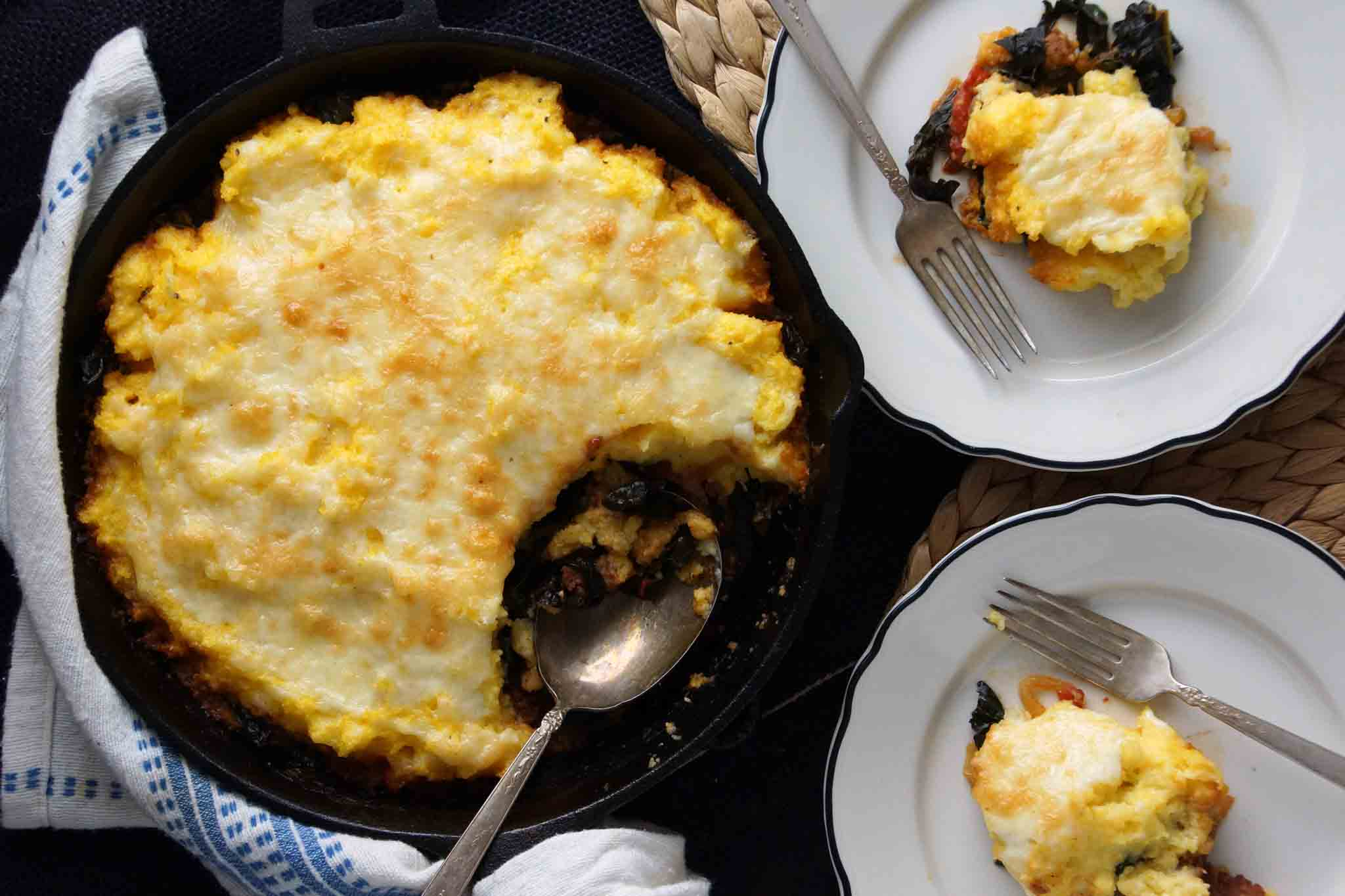Polenta And Sausage Pie Recipe — Dishmaps