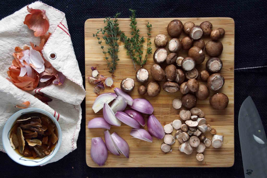 Prepped Mushrooms & Shallots