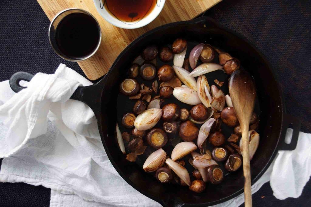 Sauteed Shallots & Cremini Mushrooms
