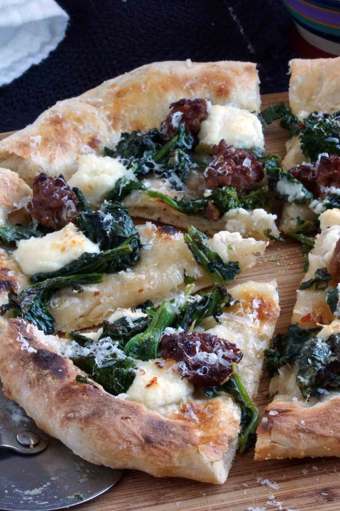 Broccoli Rabe, Italian Sausage & Ricotta Pizza | strawberryplum