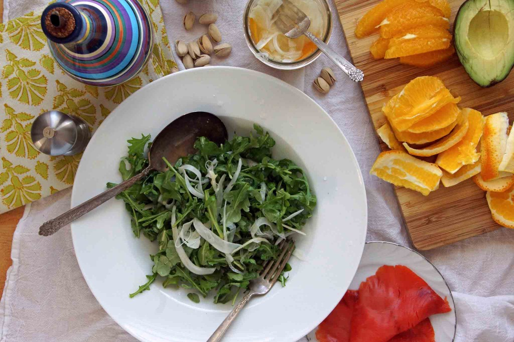 Arugula, Fennel & Salmon Salad