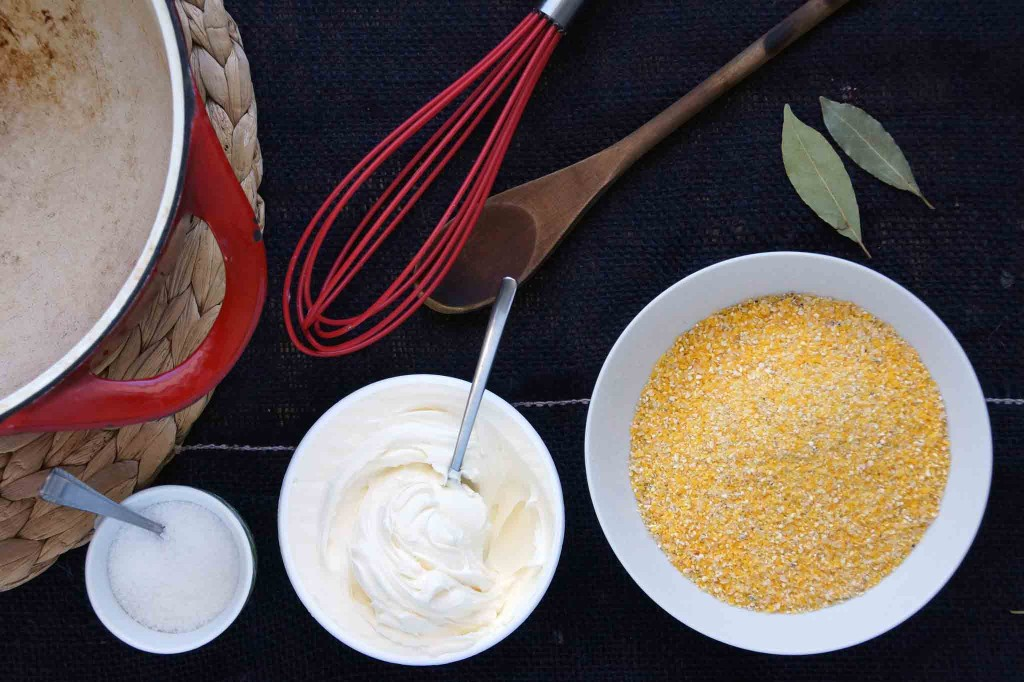 Creamy Mascapone Polenta Ingredients