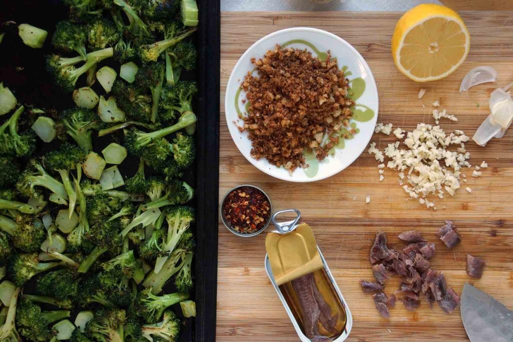 Roasted Broccoli, Toasted Breadcrumbs