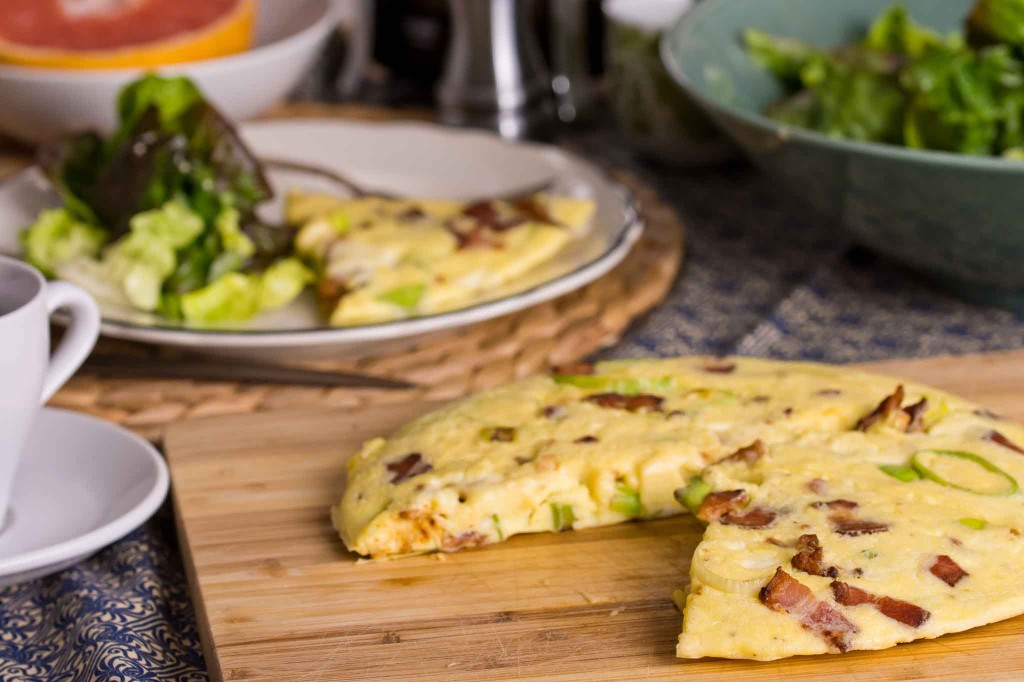 Bacon, Leek, and Créme Fraîche Frittata