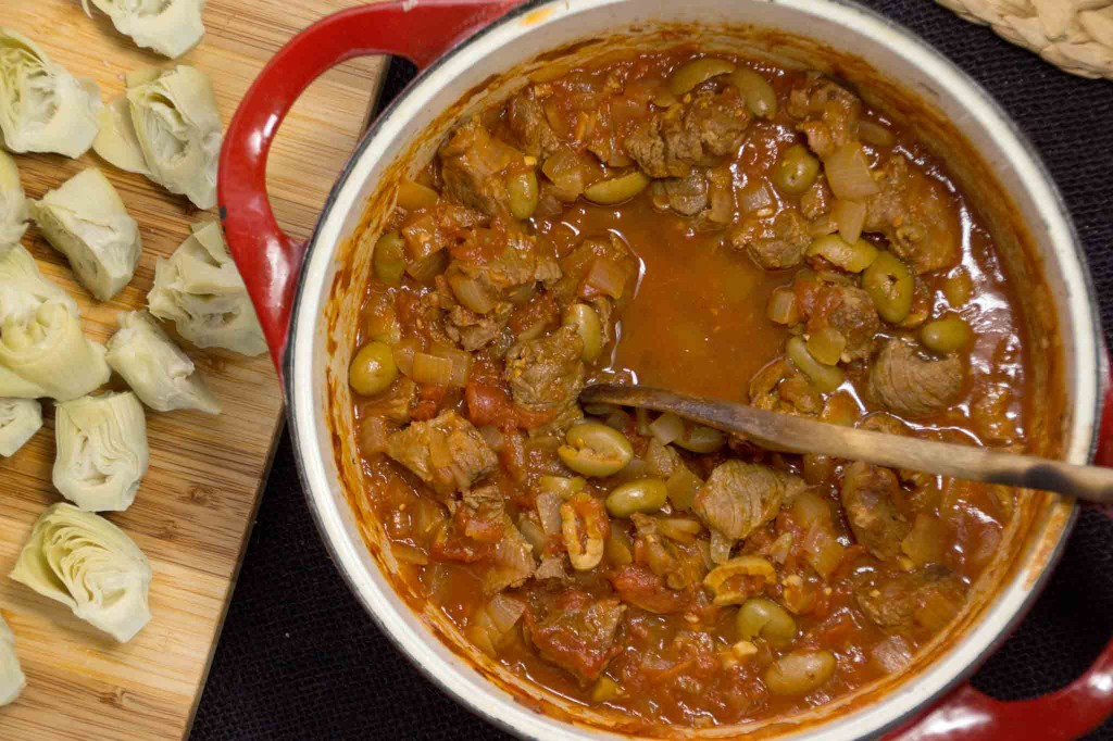 Lamb Stew with Artichokes