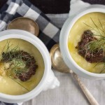 Potato, Fennel & Leek Soup with Olive Tapenade