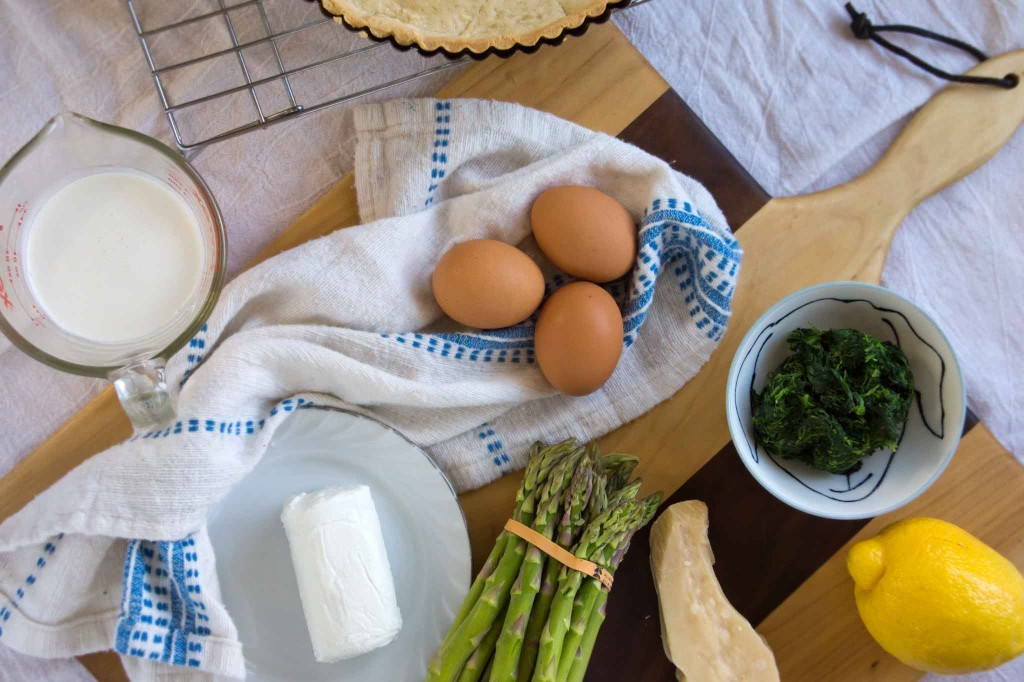 Asparagus, Spinach & Chevre Tart Ingredients