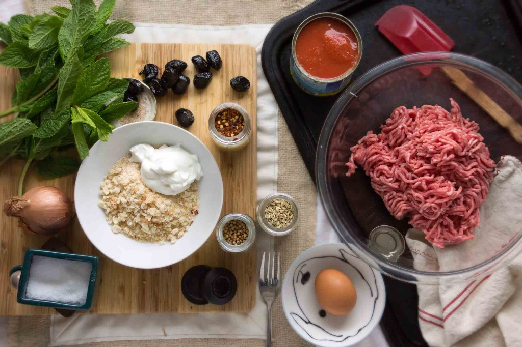 Lamb Meatball Ingredients