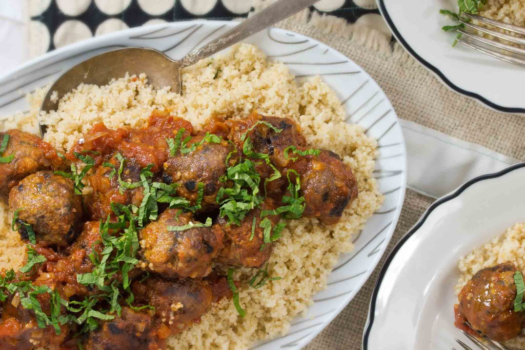 Lamb Meatballs with Tomato, Mint & Black Olives