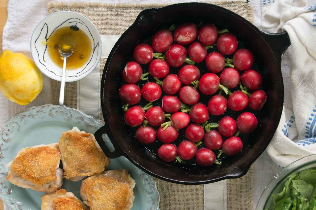 Skillet Roasted Radishes
