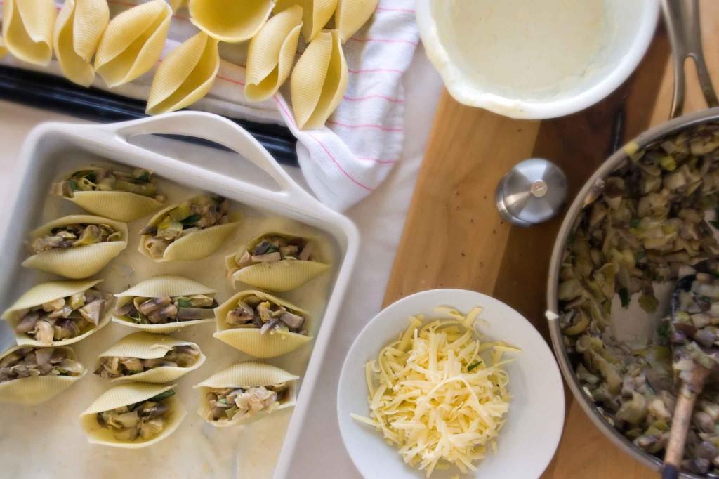 Stuffing Pasta Shells