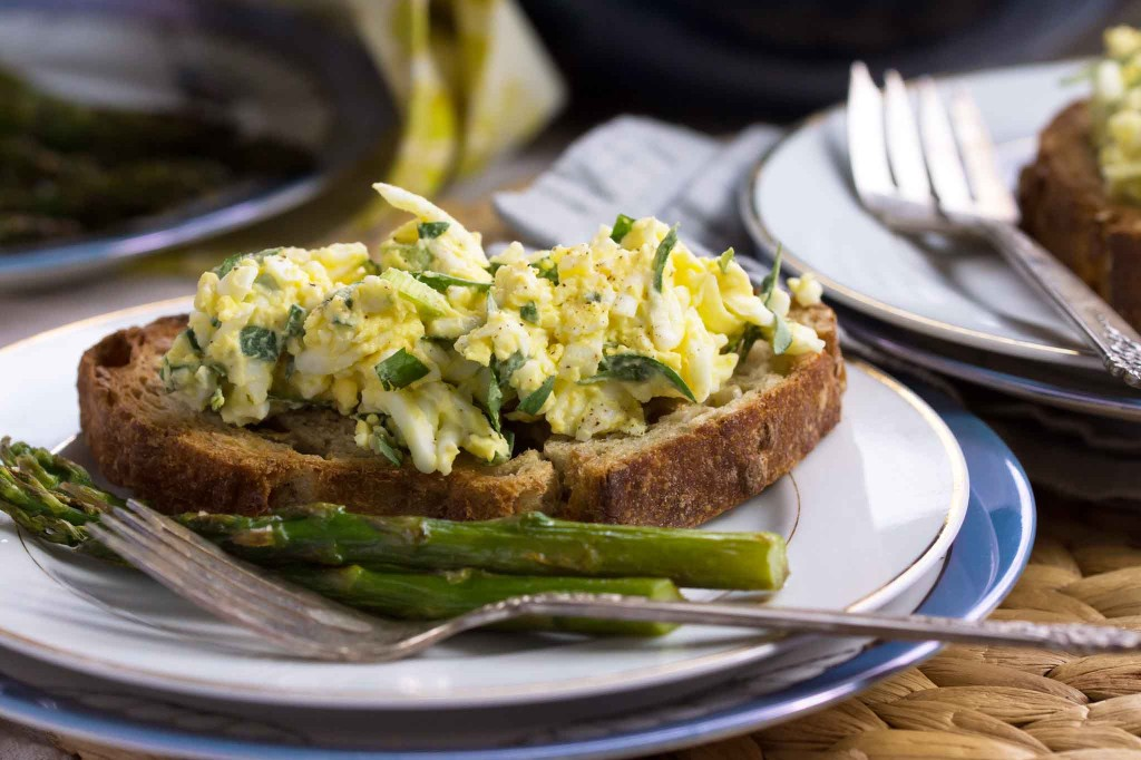 Tarragon, Scallion & Creme Fraiche Egg Salad Sandwich