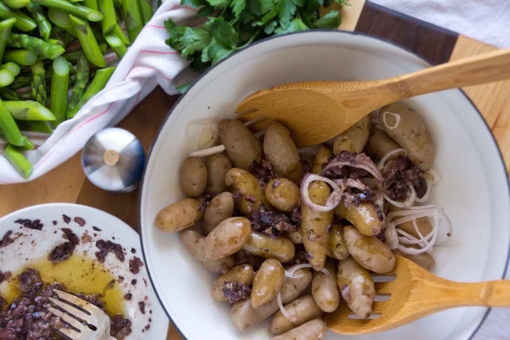Tossing Potato & Asparagus Salad