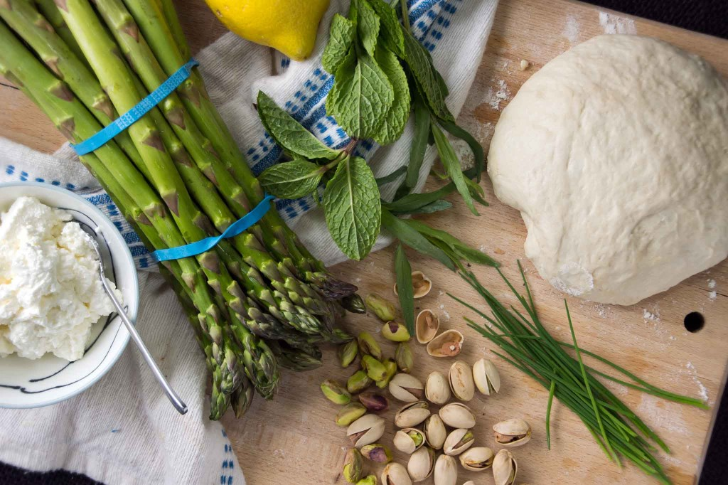 Asparagus Flatbread Ingredients