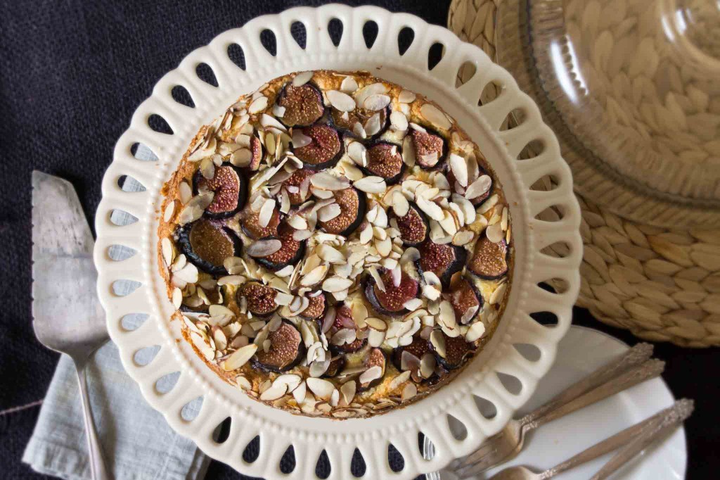Fig, Almond & Ricotta Cake
