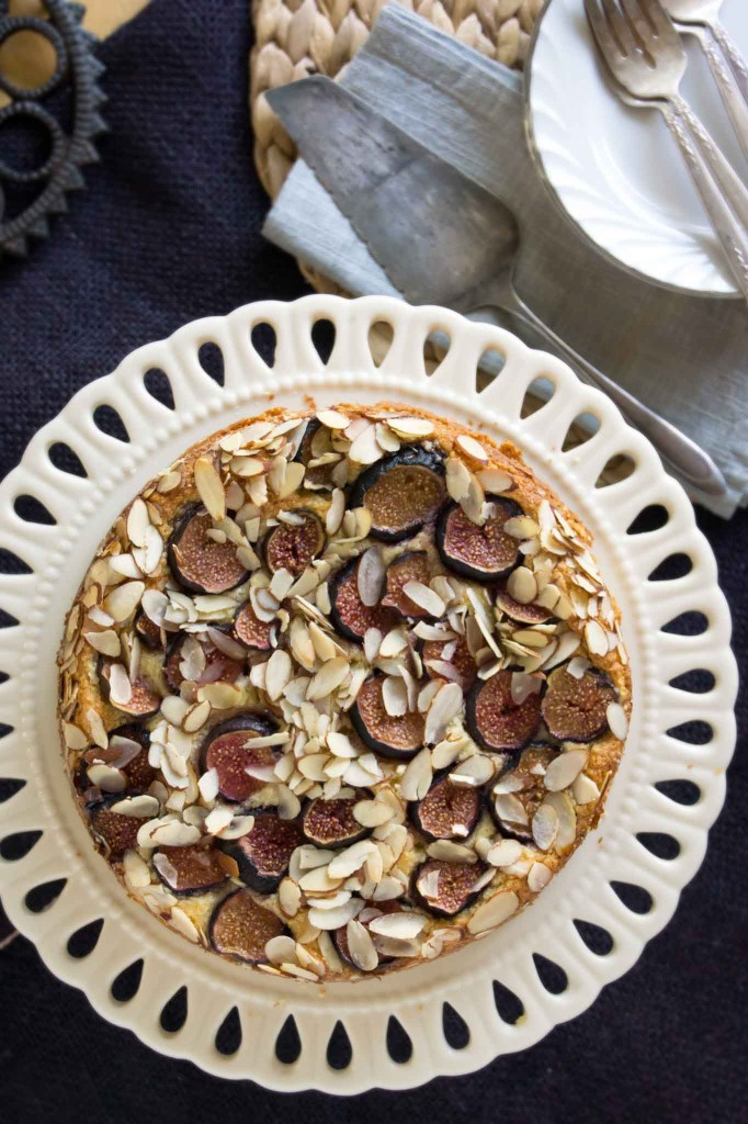 Fig Ricotta-Almond Cake