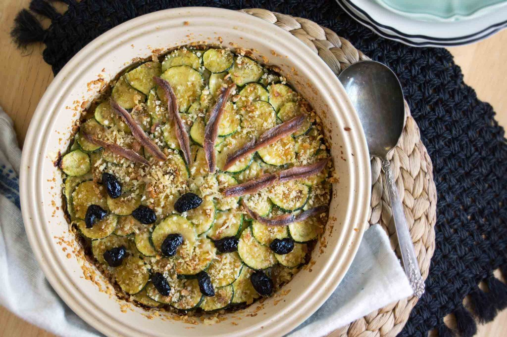 Zucchini & Caramelized Onion Gratin | strawberryplum