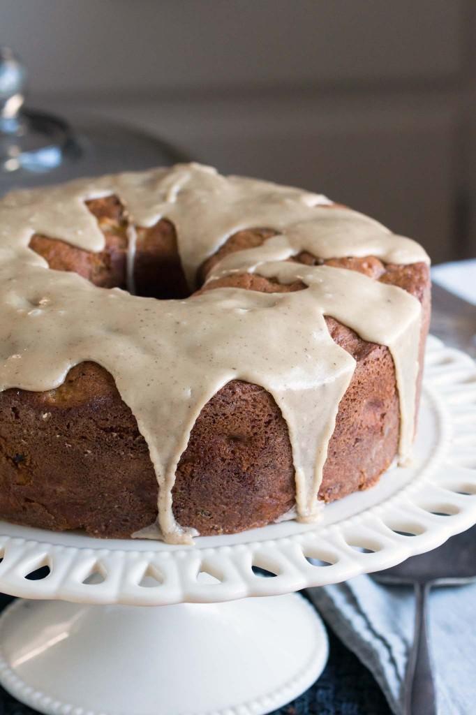 Apple Walnut Cake with Maple-Brown Butter Glaze ...