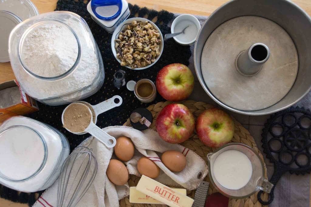Apple Walnut Cake Ingredients