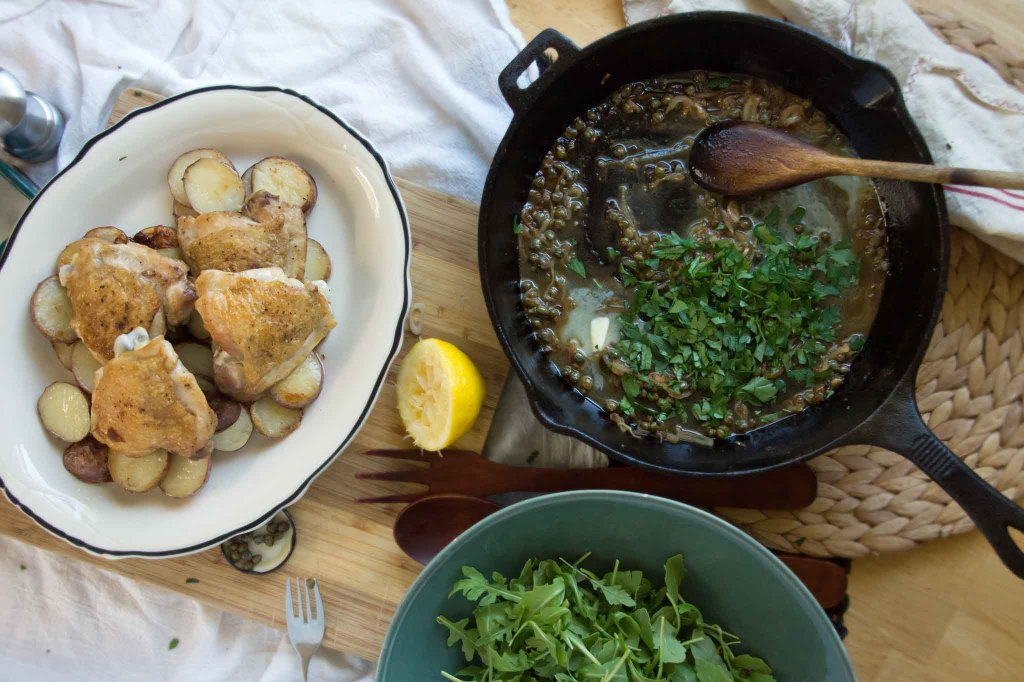 Chicken with Caper, Lemon & Parsely Pan Sauce