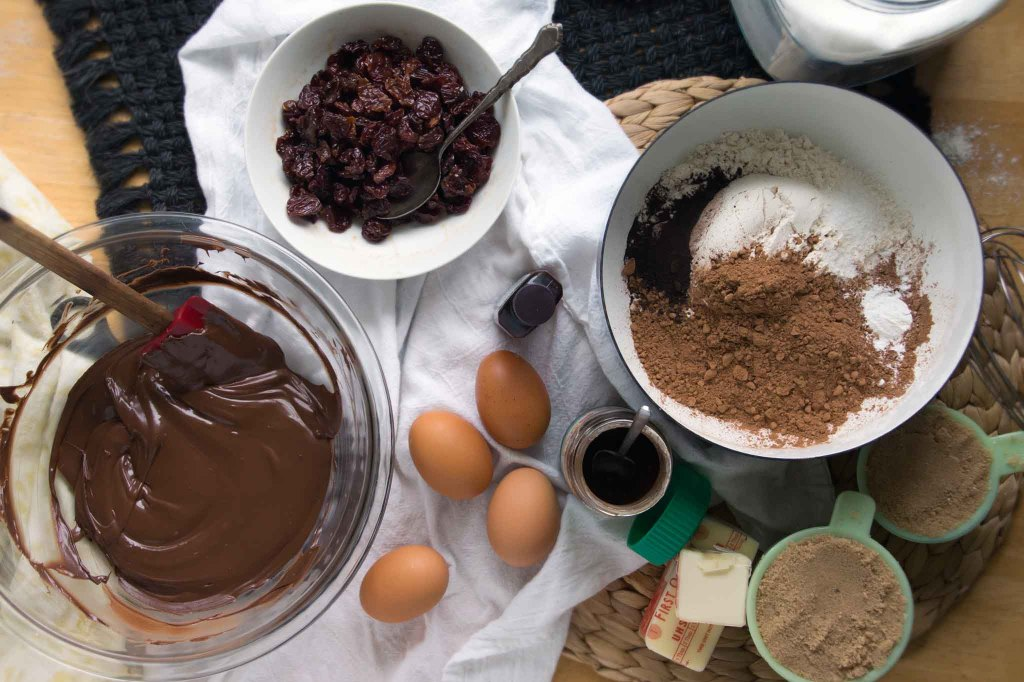 Chocolat Cherry Cookie Ingredients