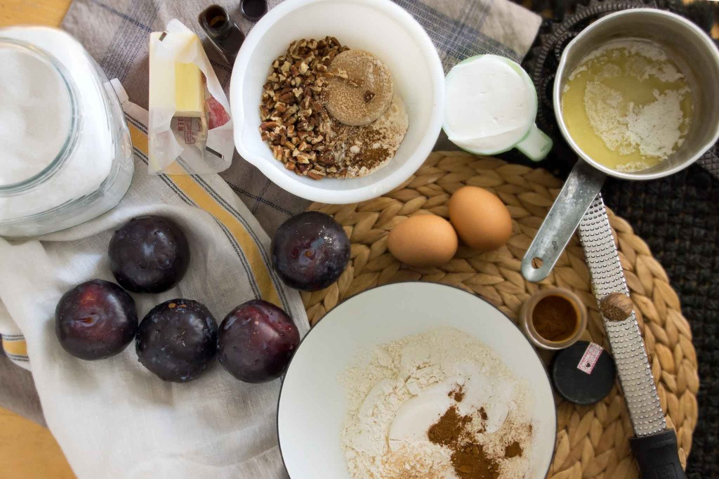 Plum Coffee Cake Ingredients