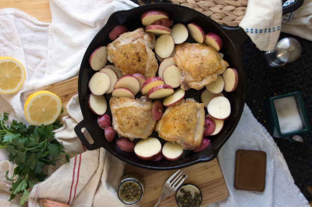 Seared Chicken with Potatoes